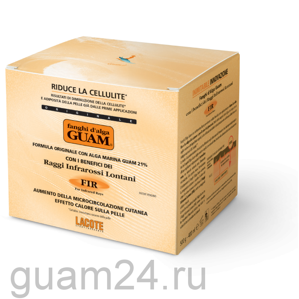 GUAM Маска антицеллюлитная разогревающая с микрокристаллами Турмалина, 500 г код 2756