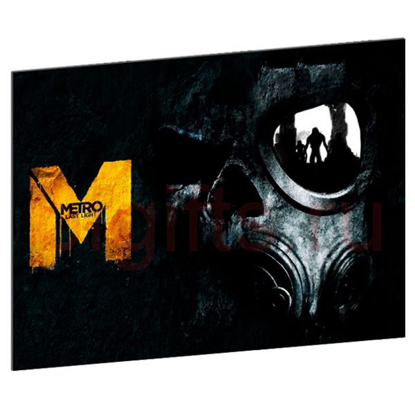 Табличка из металла Метро 2033 last light