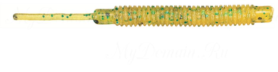 Силиконовая приманка SAKURA A.J. STICK 4,5 см цвет 029 Glow Pumpkin WBlack`n`Green