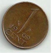 1 цент. 1969 год. Нидерланды.