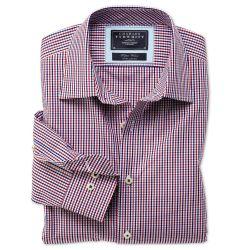 Мужская рубашка в красно-синюю клетку Charles Tyrwhitt сильно приталенная Extra Slim Fit (CC070BRD)