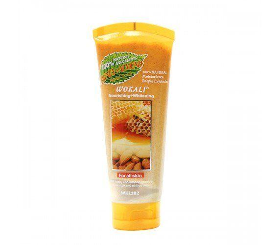 Скраб для лица Wokali Smoothing moisturising мёд