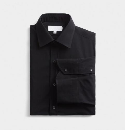 Классическая черная сорочка