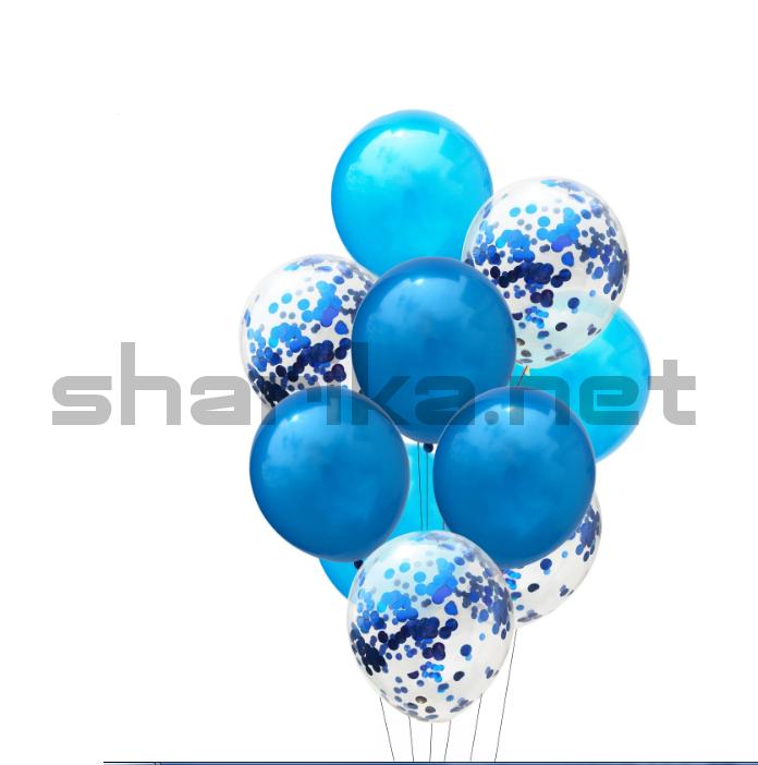 Композиция синяя с конфетти