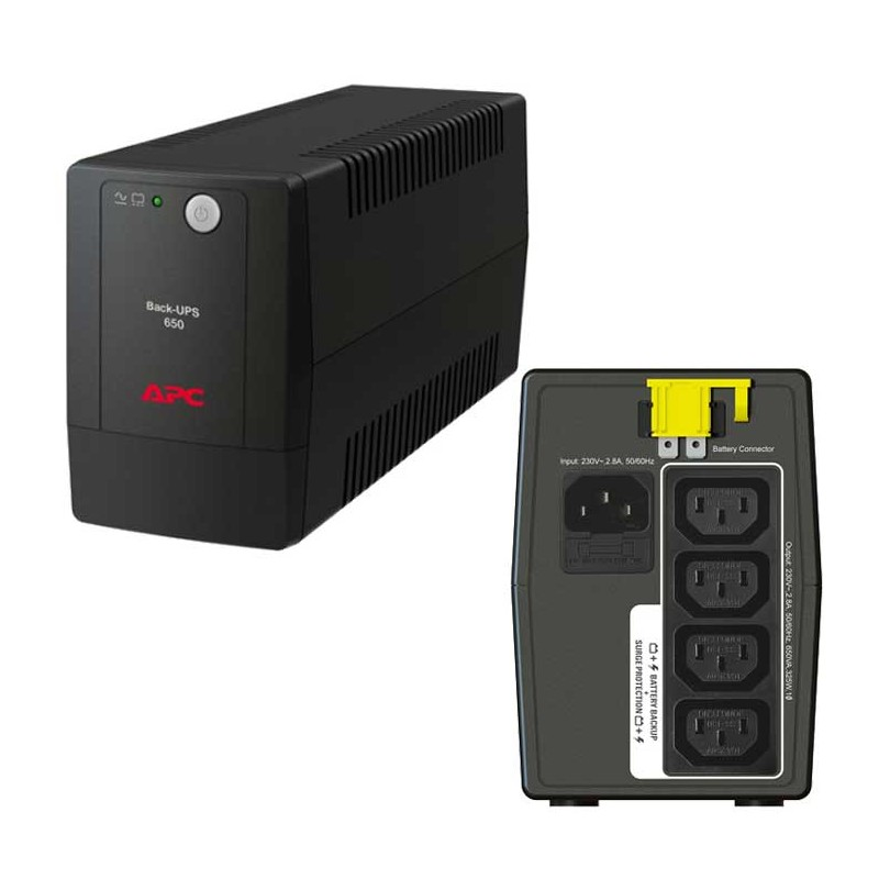 Интерактивный ИБП APC by Schneider Electric Back-UPS BX650LI