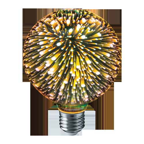 Декоративная светодиодная лампа 4 Вт. Navigator G105 3D