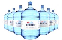Вода Пилигрим 7 бутылей по 19 литров, пэт.