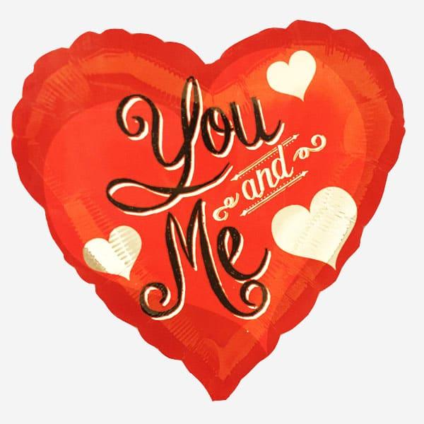 Фольгированное сердце «You and Me»