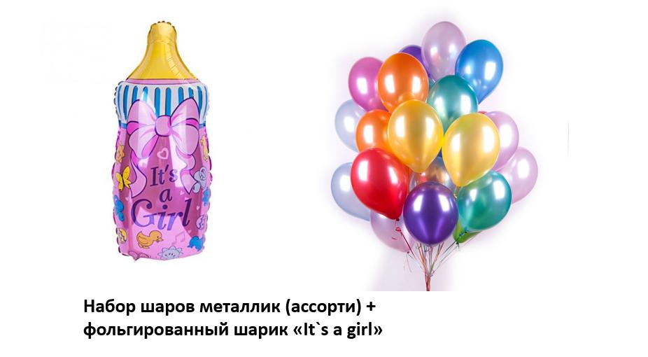 Набор шаров на выписку девочки №2