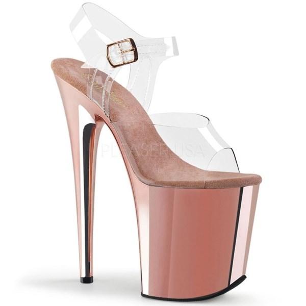 Стрипы Pleaser розовое золото FLAM808/C/ROGLDCH
