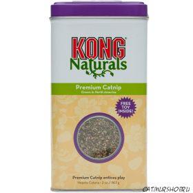Kong Premium Catnip (2 oz.) Абсолютно натуральный продукт, обладающий антистрессовым действием на кошек, относится к продукции класса «премиум».