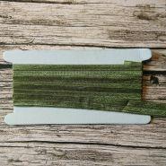 тесьма эластичная 15 мм цвет ОЛИВКОВЫЙ  цена за метр