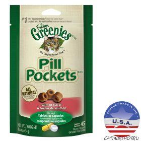 Pill Pockets for Cats  маскировочные карманы для таблеток для кошек с ароматом и вкусом лосося 45 штук 17.11.2020