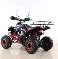 Квадроцикл подростковый бензиновый MOTAX ATV Raptor Lux черно-красный вид 3