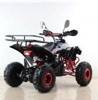 Квадроцикл подростковый бензиновый MOTAX ATV Raptor Lux черно-красный вид 4