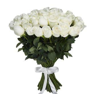 Букет из белых роз (50 см) (ЭКВАДОР)