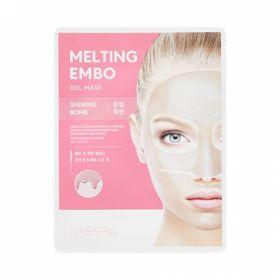 MISSHA Melting Embo Gel Mask (Shining-Bomb) - Гидрогелевая маска для сияния кожи с жемчугом, лакрицей и лотосом