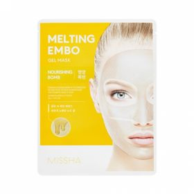 MISSHA Melting Embo Gel Mask (Nourishing-Bomb) - Питательная гидрогелевая маска для лица с медом и коллагеном.