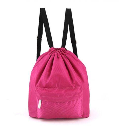Пляжная сумка-рюкзак с отделением для мокрых вещей, 30х40 см (цвет розовый)