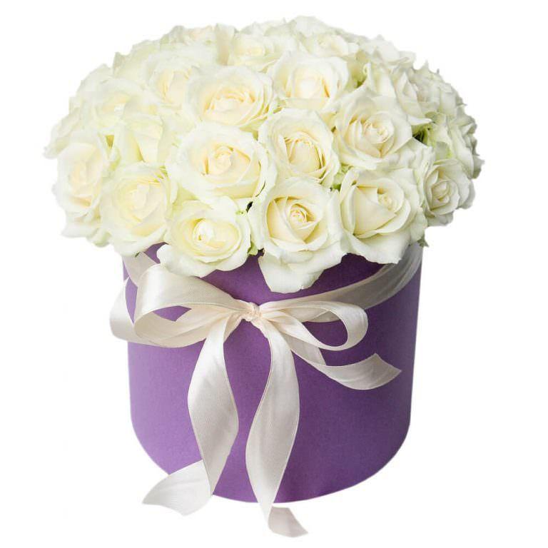 """Букет из белых роз """"Танец белых ночей"""""""