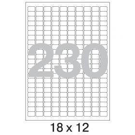 73582 Этикетки самоклеящиеся Promega label белые 18х12 мм (230 штук на листе А4, 100 листов в упаковке)