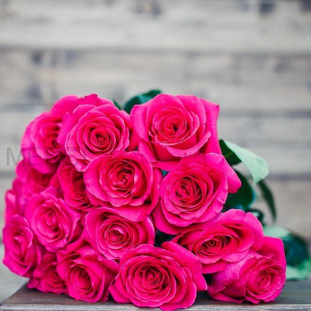Букет из роз 15 шт, Эквадор (розовые)
