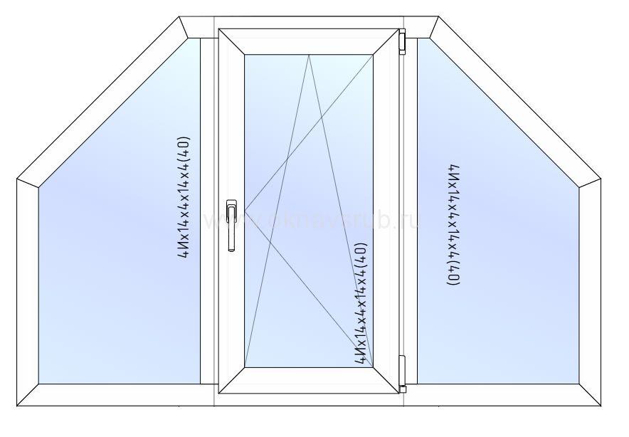 Окно REHAU 1800х1200 Трапеция Поворотно/откидная