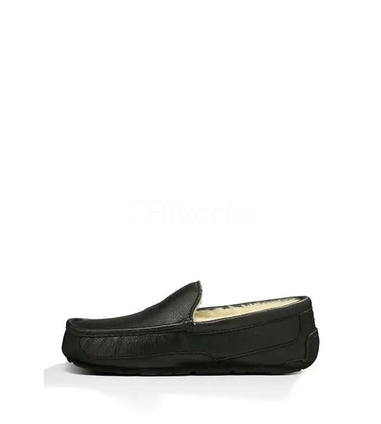 "UGG ASCOT SLIPPER LEATHER ""Black"""