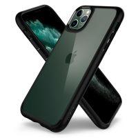 Купить оригинальный чехол Spigen Ultra Hybrid для iPhone 11 Pro черный прозрачный чехол для Айфон 11 Про в Москве в интернет магазине аксессуаров для смартфонов elite-case.ru