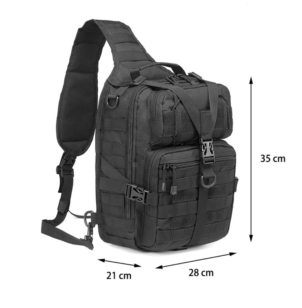Однолямочный рюкзак тактический 20 литров Девятая Линия