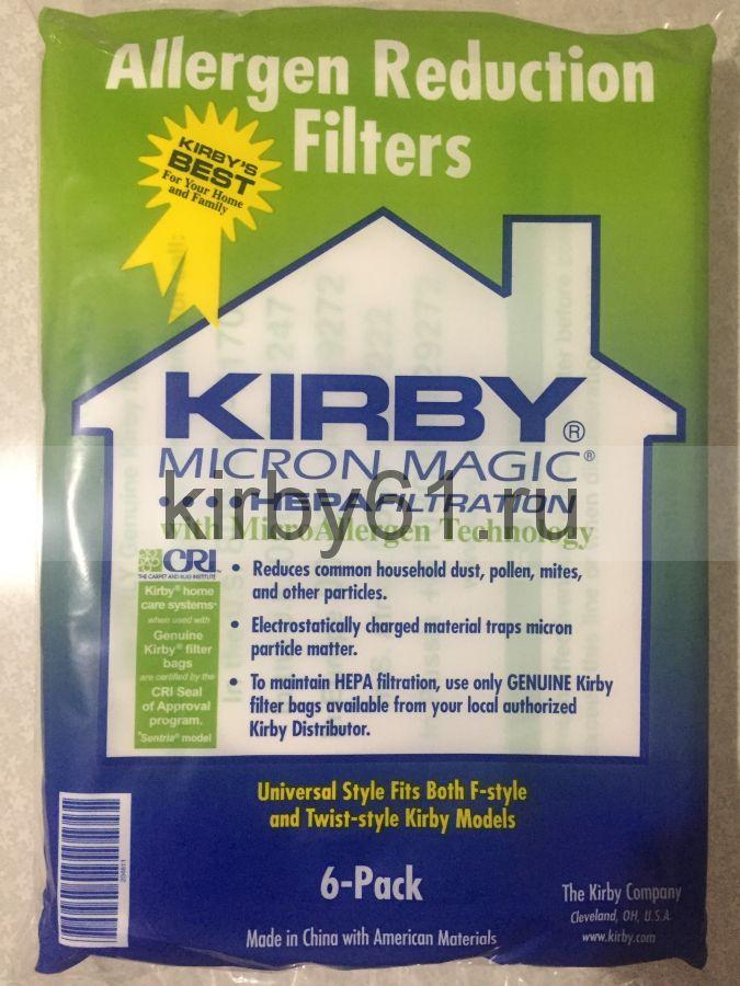 Мешки Kirby зеленые 6 шт в упаковке КИТАЙ + 1 ремень КИТАЙ