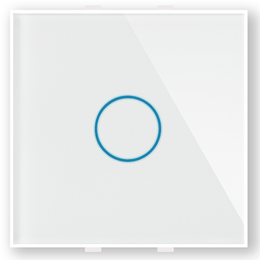 """Однолинейная панель стеклянная белая в рамку """"Эстетика""""  CGSS GL-PN01W"""