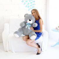 Мишка Кузя ОР-100см Длина-80см Дымчатый