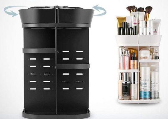 Вращающийся органайзер для хранения косметических средств 360 Rotation Cosmetic Organizer