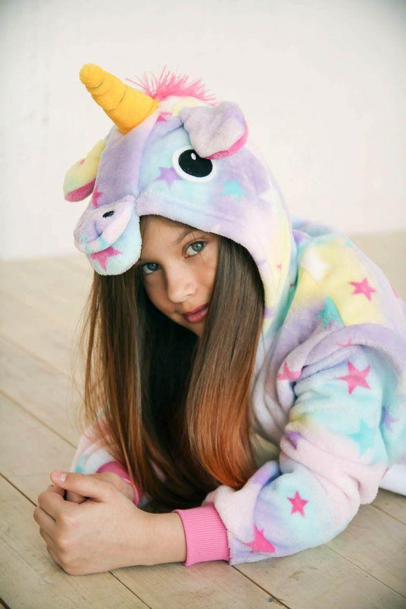 Детский кигуруми пижама Единорог звездный