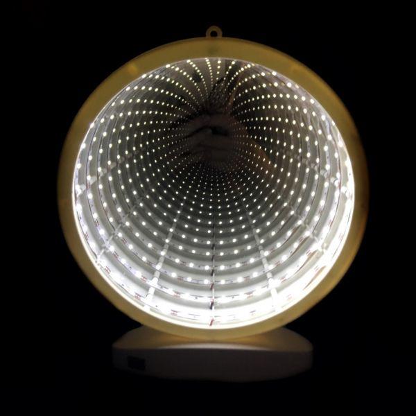 Зеркальный ночник с эффектом бесконечности, Круг