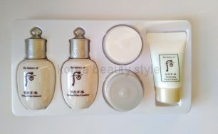 The history of Whoo Radiant White (Gongjinhyang: Seol Radiant White ) 5 pcs Special Gift Kit - набор миниатюр из 5 средств отбеливающей/осветляющей линии средств бренда  The history of Whoo