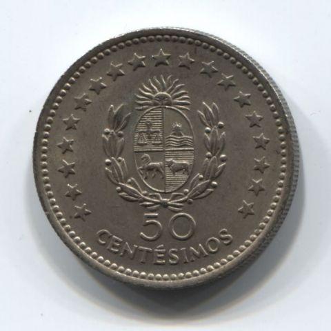 50 сентесимо 1960 года Уругвай XF+