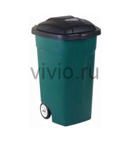 Контейнер для мусора  105л с крышкой на колесах