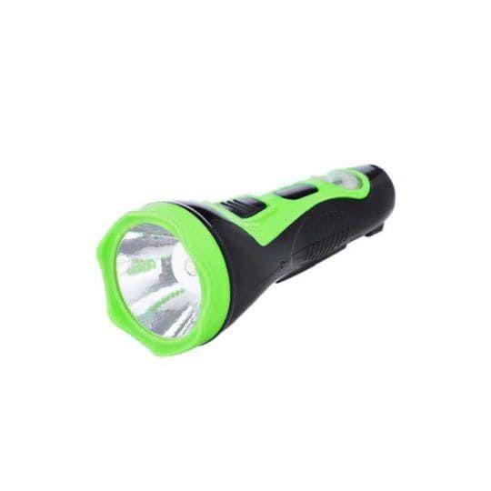 Аккумуляторный светодиодный фонарь с солнечной батареей Solar Flashlight, зеленый
