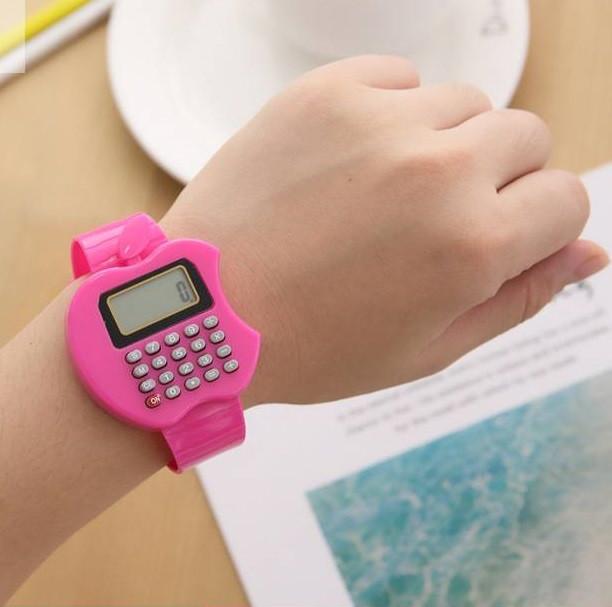 Детские электронные наручные часы-калькулятор Яблоко