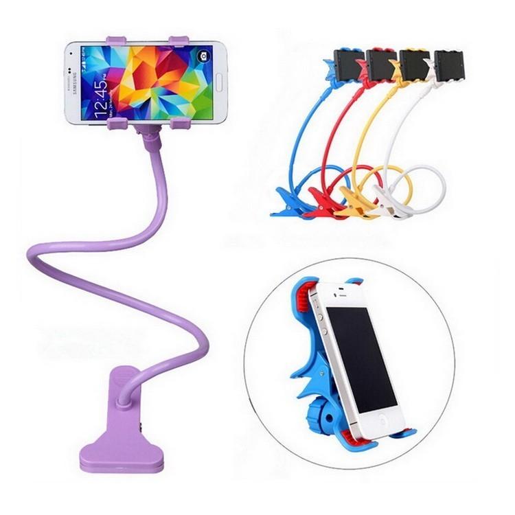 Гибкий держатель-прищепка для телефонов и мини планшетов