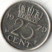 25 центов. 1979 год. Нидерланды.