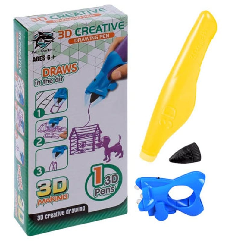 3D ручка Creative Drawing Pen, желтая