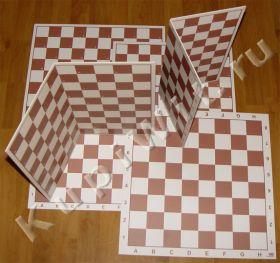 Поле для шашек (доска шашечная) 64 и 100 клеток