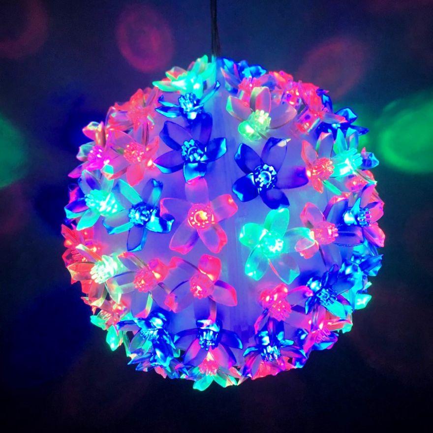 Уникальный светодиодный LED шар с лампами в виде цветов Led Light, 100 ламп