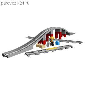 Конструктор LEGO Duplo - Железнодорожный мост и рельсы