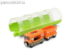 Грузовой вагон и туннель, 3 элемента