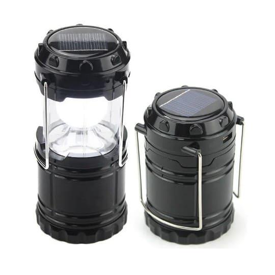 Складной кемпинговый фонарь 3 в 1, 14 см, черный