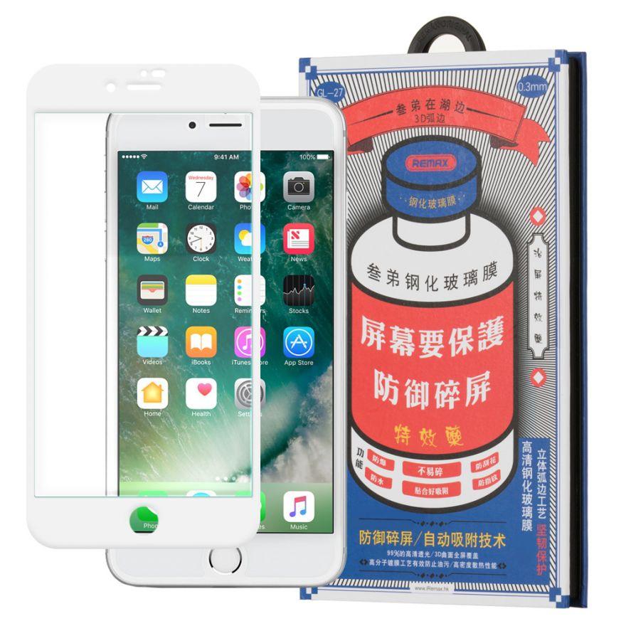 Защитное 3D стекло Remax для iPhone 6/6S (белое, черное)